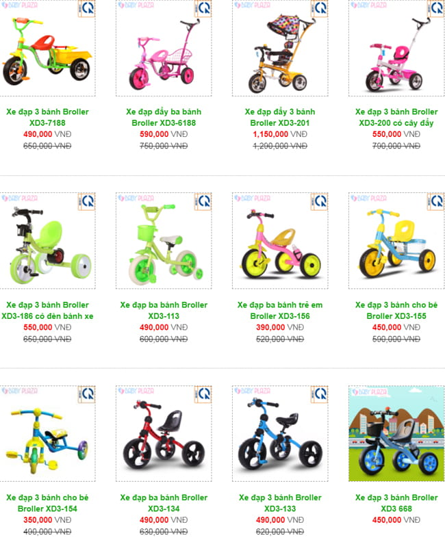 giá xe đạp 3 bánh