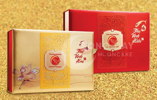 hộp bánh trung thu kinh đô trăng vàng Hoàng Kim