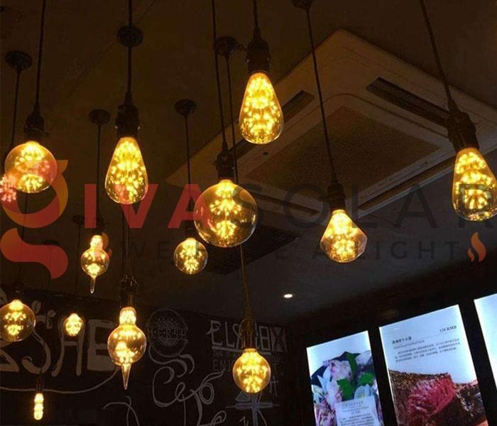 Sử dụng đèn trang trí quán ăn thu hút khách hàng 6