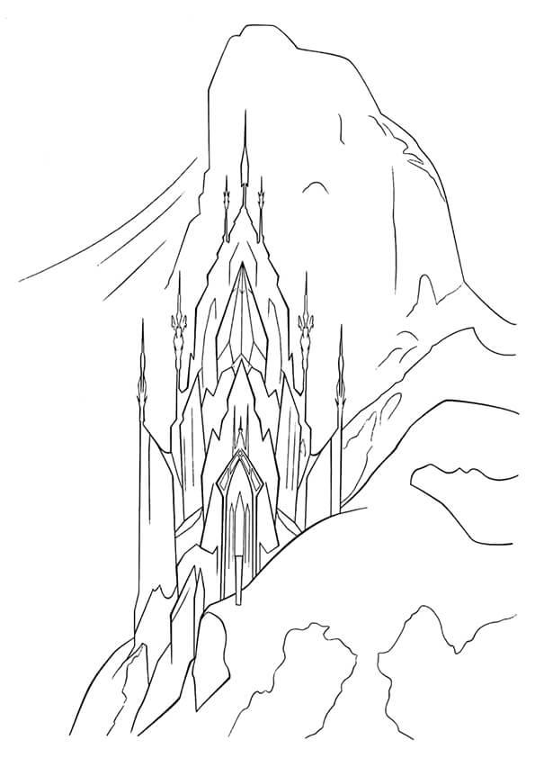 hình lâu đài tuyết của công chúa elsa