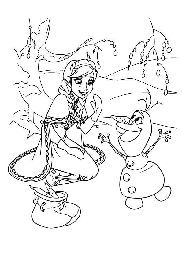 hình to màu công chúa anna và olaf