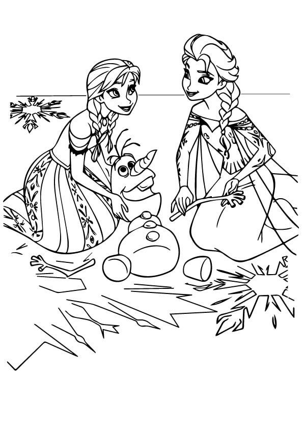 Tập tô màu với hình công chúa anna elsa