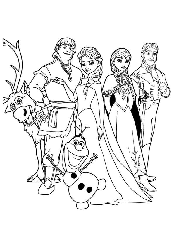 Các nhân vật trong flim công chúa elsa