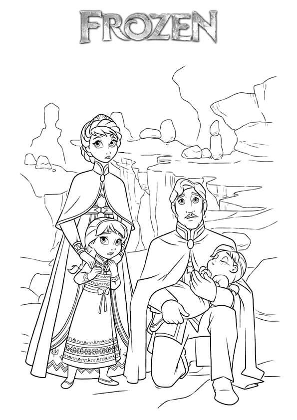Tranh Tô Màu Elsa Và Anna Cho Bé Mẫu Giáo Ellen